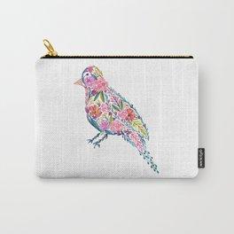 Flower Bird Carry-All Pouch