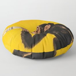 Vintage Anisette Liquor Italian Drinking 'Drunken Monkey' Aperitif Advertisement Poster Floor Pillow