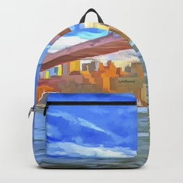 Brooklyn Bridge New York Pop Art Backpack