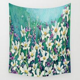 Dancing Daisies Wall Tapestry