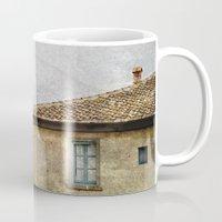 italian Mugs featuring Italian Farm by BlueMoonArt