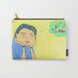 Girl and Food Carry-All Pouch
