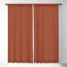 Rusty Auburn Solid Colour  Blackout Curtain