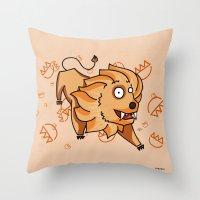 leo Throw Pillows featuring Leo by Giuseppe Lentini