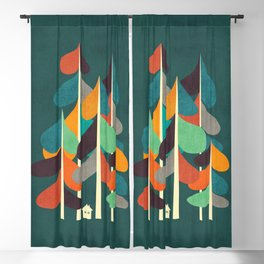Cabin in the woods Blackout Curtain