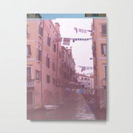 Venezia Glitch Metal Print