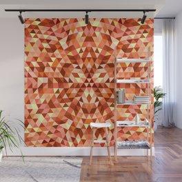 Hot triangle mandala Wall Mural