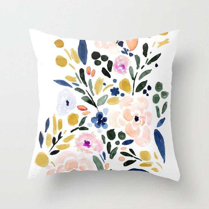 Sierra Floral Throw Pillow By Crystalwalen Society6
