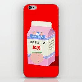 Milk peach red iPhone Skin