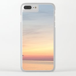 Sunset Lake Clear iPhone Case