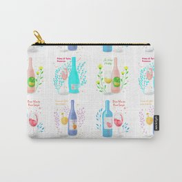 Four Wine Cats <white> Carry-All Pouch