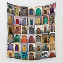 Moorish Doors Montage Wall Tapestry