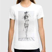 burlesque T-shirts featuring Burlesque by Frances Roughton
