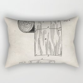 Toilet Paper Patent - Bathroom Art - Antique Rectangular Pillow