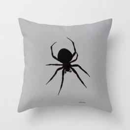 Orb Weaver Silhouette Throw Pillow