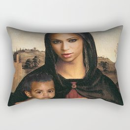 Bey and Blue  Rectangular Pillow