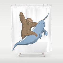 Narwhal Unicorn Beluga Sea Life Sloth Tusk Gift Shower Curtain