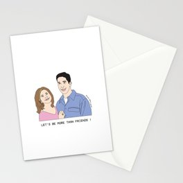 Be My Valentine - Friends Rachel And Ross! 90s TV SHOW Stationery Cards