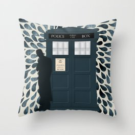 Dr Who and his Timey-Wimey Vehicle Throw Pillow