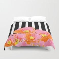 Poppy Stripes - Pink Duvet Cover