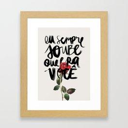 Você Framed Art Print