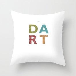 Distressed Dart Typography Bar Pub Tournament Throw Pillow