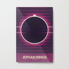 Jupiter - Jovian Rings Metal Print