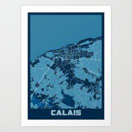 Calais - France Peace City Map Art Print