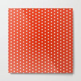SWISS DOT ((cherry red)) Metal Print