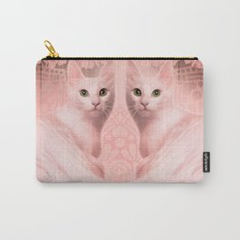 """Pink Pastel Doppelganger Cats at the Garden"" Carry-All Pouch"