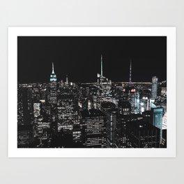 New York at Night - Photography Art Print