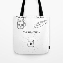 The Lager, The Bun & The Jolly Toast Tote Bag