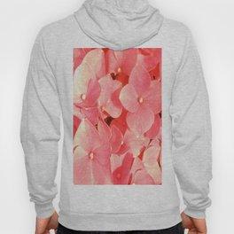 Pink Hydrangea Yellow Mellow flower pattern Hoody
