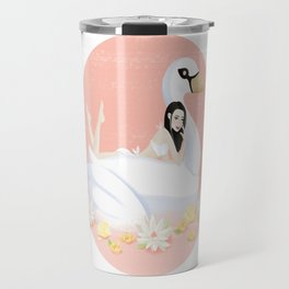 Summer Pool Party - White Swan Float D Travel Mug
