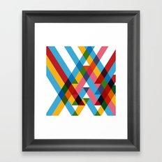 Ribbons Overlay ///www.pencilmeinstationery.com Framed Art Print