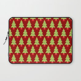 Red Christmas Trees Laptop Sleeve