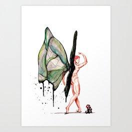 Broken wings Art Print