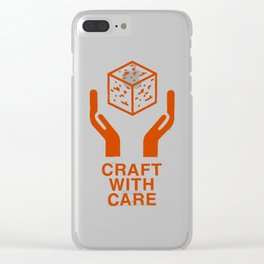 Craft With Care (Orange) Clear iPhone Case