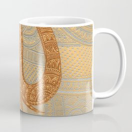 Elegant Elephant Tattoo Coffee Mug