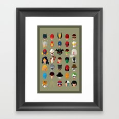 SuperHeroes Framed Art Print