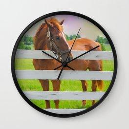 Horse Painting Wall Clock