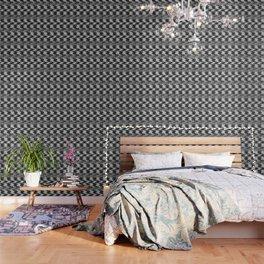 Geometric black, white pattern. Wallpaper