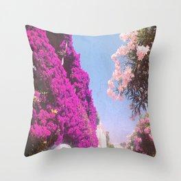 Summer Dreamin' Amalfi Coast Throw Pillow