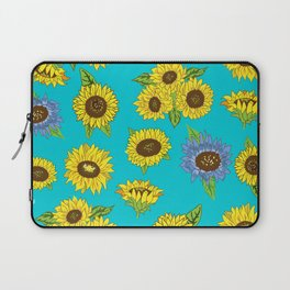 Sunflower Grunge Pattern Laptop Sleeve