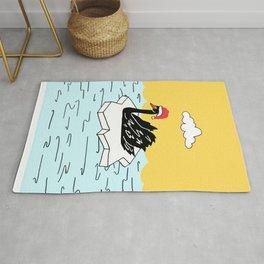 Shazam the Swan Rug