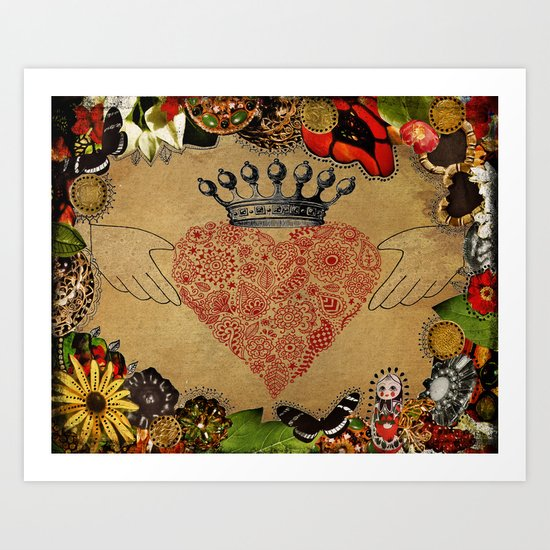 The Claddagh Art Print