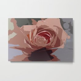 A Dusty Rose Metal Print