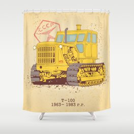 T 100 Shower Curtain