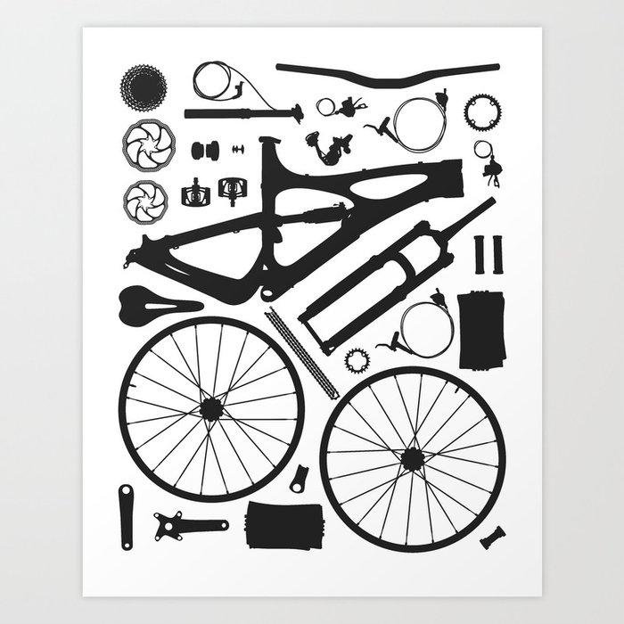 Bike Parts Mojo Art Print By Basx Society6