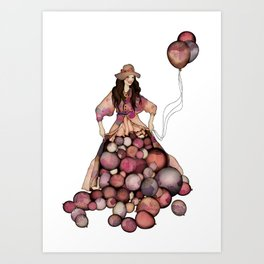 Le Ballon // Birthday Art Print